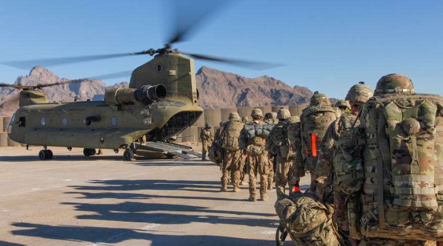 Troops Leaving